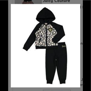 Juicy Couture black cheetah hoodie & pants